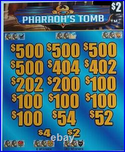 Pharaoh's Tomb' Pull Tab Tickets $1494 Profit 2952 Tickets Free Ship