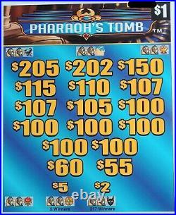 Pharaoh's Tomb' Pull Tab Tickets $908 Profit 3168 Tickets Free Shipping