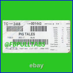 Pig Tales 2000 Pull Tabs, $1 Each $508 Profit Fundraiser Free Shipping