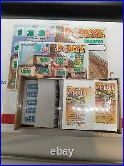 Popeyes Pull Tab $1 Game plus Free 2nd Game! 3416 tickets $1014 Profit Win Big