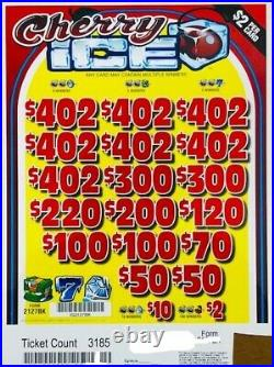 Pull Tab $2 Ticket CHERRY ICE -$1566.00 HUGE $$ PROFIT FREE Shipping