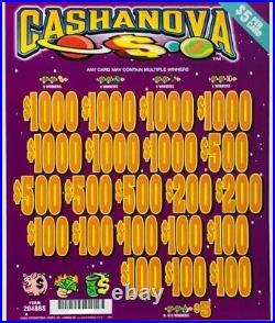 Pull Tab $5 Ticket CASHANOVA $3660 GIANT $$ PROFIT FREE Shipping