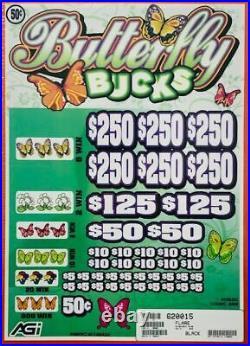 Pull Tab. 50 Ticket BUTTERFLY BUCKS -$1700 HUGE $$ PROFIT FREE Shipping