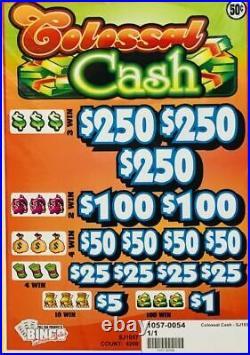 Pull Tab. 50 Ticket COLOSSAL CASH -$700 BIG$-$PROFIT FREE SHIPPING