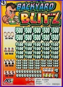 Pull Tab. 50 Ticket EQUESTRIAN GOLD $8430 PROFIT FREE SHIPPING