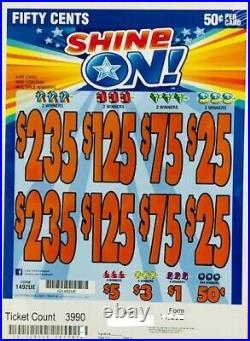 Pull Tab. 50 Ticket SHINE ON -$593.00 BIG PROFIT FREE Shipping