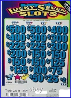 Pull Tab Ticket $2 LUCKY 7 SLOTS $1882 GIANT $$ PROFIT FREE Shipping