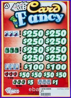 Pull Tab Ticket CARD FANCY -$1020.00 HUGE $$ PROFIT FREE Shipping