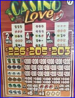 Pull Tab Ticket CASINO LOVE -$2040.00 HUGE PROFIT-FREE SHIPPING