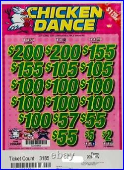 Pull Tab Ticket CHICKEN DANCE -$922.00 HUGE $$ PROFIT FREE Shipping