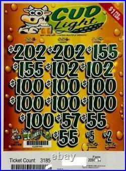 Pull Tab Ticket CUD LIGHT -$920.00 HUGE $$ PROFIT FREE Shipping