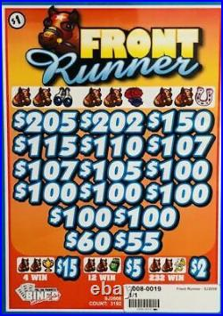 Pull Tab Ticket FRONT RUNNER -$908.00 HUGE $$ PROFIT FREE Shipping