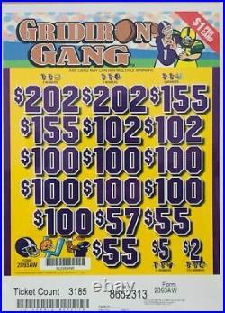 Pull Tab Ticket GRID IRON GANG -$920.00 HUGE $$ PROFIT FREE Shipping