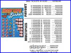 Pull Tab Ticket HOOK LINE AND SINK -$908.00 HUGE $$ PROFIT FREE Shipping