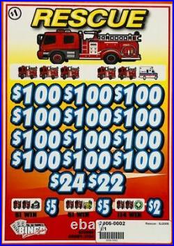 Pull Tab Ticket RESCUE -$546.00 PROFIT FREE QUICK Shipping