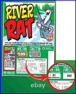 Pull Tab Ticket RIVER RAT 1480ct BIG Profit! And FREE SHIPPING