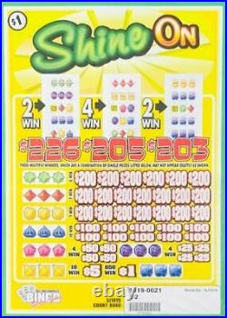 Pull Tab Ticket SHINE ON -$2040.00 HUGE PROFIT-FREE SHIPPING