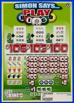 Pull Tab Ticket SIMON SAYS $1040.00 HUGE $$ PROFIT FREE Shipping