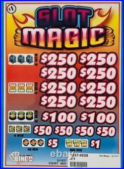 Pull Tab Ticket SLOT MAGIC -$1020.00 HUGE $$ PROFIT FREE Shipping