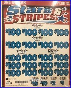Pull Tab Ticket STARS & STRIPES -$968.00 HUGE $$ PROFIT FREE Shipping