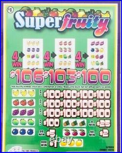 Pull Tab Ticket SUPER FRUITY -$1040.00 HUGE $$ PROFIT FREE Shipping
