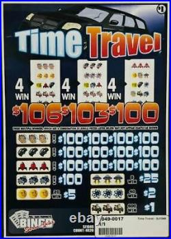 Pull Tab Ticket TIME TRAVEL -$1040.00 HUGE $$ PROFIT FREE Shipping