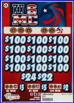Pull Tab Ticket USMC -$546.00 PROFIT FREE QUICK Shipping