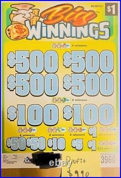 Pull Tab Tickets, Big Win Free Shipping Big Profit $990 $1Ticket 3990Count USA