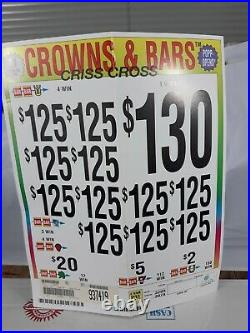 Pull Tabs CROWNS & BARS Tickets $1.00 Ticket 3079 Count FREE SHIPPING