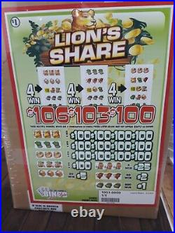Pull Tabs LIONS SHARE Tickets $1.00 Ticket $1040 PROFIT FREE SHIPPING