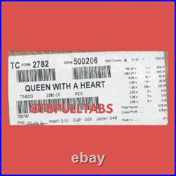 Queen With A Heart 2280 Pull Tabs/$1 Each $610 Profit Fundraise -free Ship