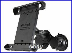 RAM Double Twist Lock Suction Cup Mount withTab-Tite Cradle fits Apple iPad & More