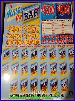 Raise The Bar Cash Board 4000 Pull Tabs $1 $1,095 Profit