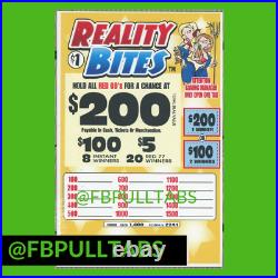 Reality Bites 200- 1400 Pull Tabs, $1 Each $300 Profit -fundraiser Free Ship