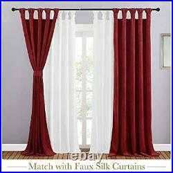 Red Velvet Curtains for Theater Twist Tab Design Decorative Drapes for Holiday