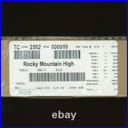 Rocky Mountain High One Dollar Pull Tab Game 1880 Pull Tabs 395 Profit