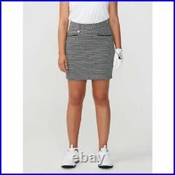 Rohnisch Ladies Pull-on Twill Skort in Black & White Check 33% OFF RRP