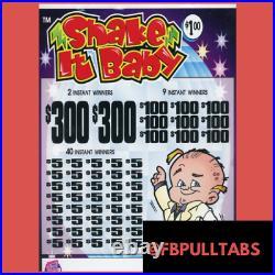 Shake It Baby 2120 Pull Tabs 1 Dollar Each 420 Profit Fundraiser