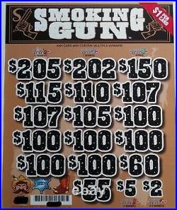 Smoking Gun' Pull Tab Tickets $925 Profit 3185 Tickets Free Shipping