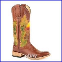 Stetson Ladies Goldie Square Cactus Brown Boots 12-021-8601-1325