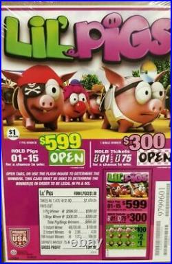 Super 7 & LIL Pigs, $1 Pull Tab Tickets, Free Shipping USA
