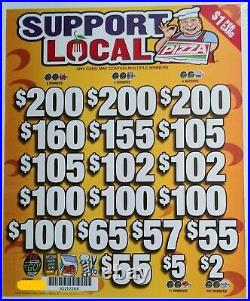 Support Local' Pull Tab Tickets $795 Profit 3185 Tickets Free Shipping