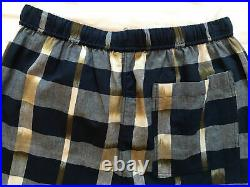 TOAST BNWT £135 Size 10/12 Kato Ikat Pull-On Checked Trousers/Lounge Wear/Cotton