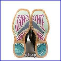 Tin Haul Ladies Jawsome Shark Sole Metallic Boots 14-021-0077-1387