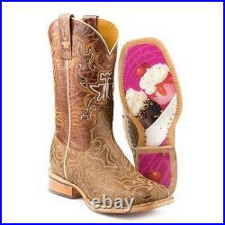 Tin Haul Ladies Life Is Sweet Brown Embroidery Boots 14-021-0077-1382