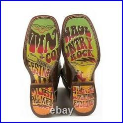 Tin Haul Men's Eye Bender Printed Brown Boots 14-020-0077-0400