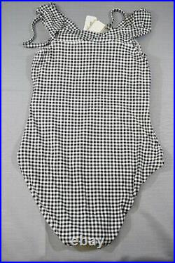 Tommy Bahama Gingham Over the Shoulder Twist One-Piece Swimsuit, Women's Size 6
