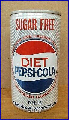 Tough 1967 Diet Pepsi Cola New All Aluminum 12 oz Pull Tab Soda Can