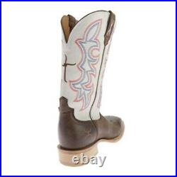 Twisted X Mens Hooey 12 Brown & White Sq Toe Boots Reg & Wide Sizes #MHY0011