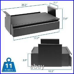 Under Desk Pull-Out Drawer Kit with Laptop and Tablet Shelf 20.2 x 12.2 x 7.4